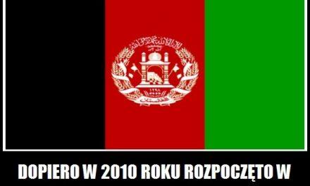 w 2010 roku rozpoczęto w Afganistanie budowę sieci kolejowej