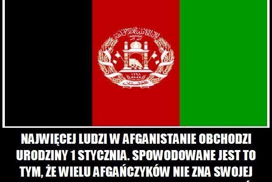 Najwięcej ludzi w Afganistanie obchodzi urodziny 1 stycznia