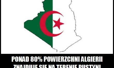 Jaki % powierzchni Algierii znajduje się na terenie Sahary?