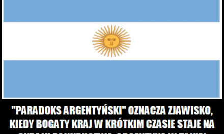 Co oznacza paradoks argentyński?