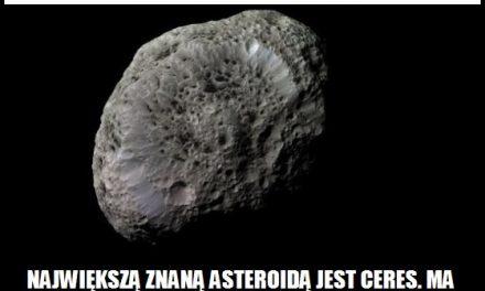 Jaką średnicę ma największa znana asteroida?
