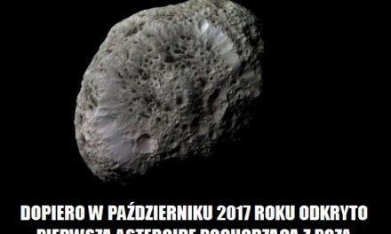 W którym roku odkryto pierwszą asteroidę z poza Układu Słonecznego?