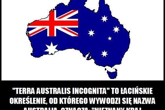 Co oznacza nazwa Australia?