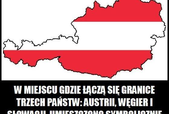 Co znajduje się w miejscu, gdzie łączą się granice Austrii, Węgier i Słowacji?