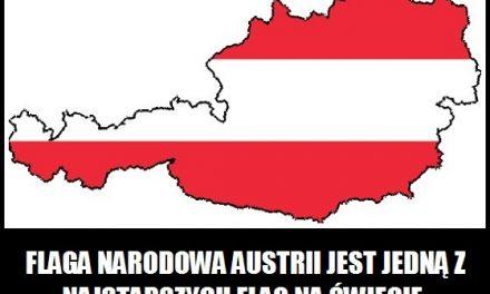 Z którego roku pochodzi flaga narodowa Austrii?