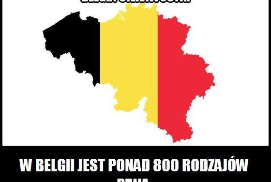 Ile rodzajów piwa jest w Belgii?