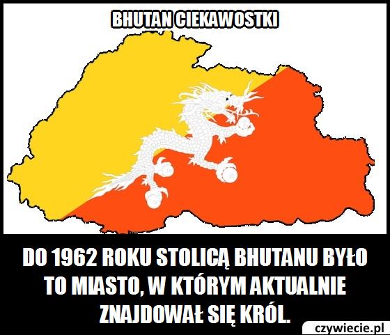Jakie miasto było stolicą Bhutanu do 1962 roku?