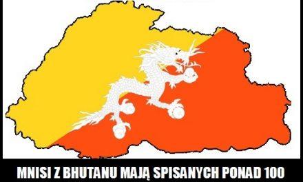 Ile różnych modlitw spisali mnisi z Bhutanu?