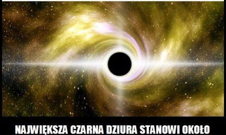 Jaką masę ma największa czarna dziura?