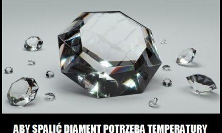 W jakiej temperaturze można spalić diament?