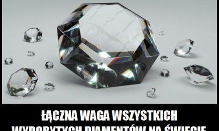 Ile ważą wszystkie diamenty?
