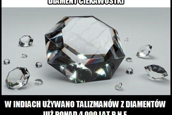 W którym kraju używano talizmanów z diamentów już ponad 6 000 lat temu?