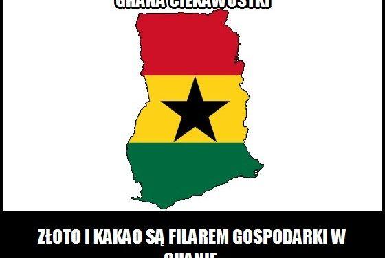 Co jest filarem gospodarki Ghany?