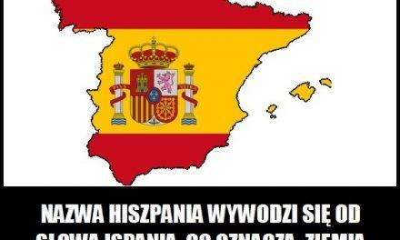 Co oznacza nazwa Hiszpania?
