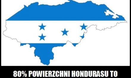 Jaki procent powierzchni Hondurasu stanowią tereny górzyste?