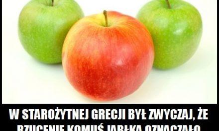 Co w starożytnej Grecji oznaczało rzucenie komuś jabłka?