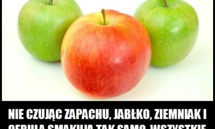Kiedy jabłko, ziemniak i cebula smakują tak samo?