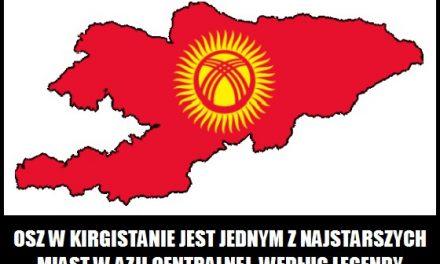 Kto według legendy założył miasto Osz w Kirgistanie?