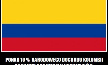 W którym kraju 10 procent dochodu narodowego pochodzi z narkotyków?