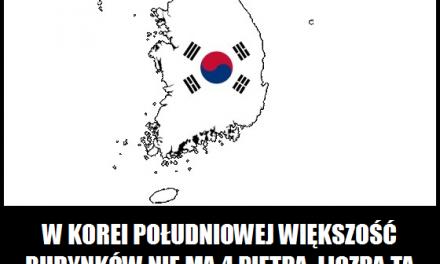Którego piętra nie ma większość budynków w Korei Południowej?
