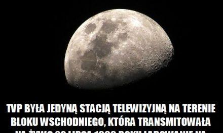 Która stacja telewizyjną na terenie bloku wschodniego, transmitowała lądowanie na Księżycu?