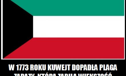 Co w 1773 roku doprowadziło do śmierci większość ludności Kuwejtu?