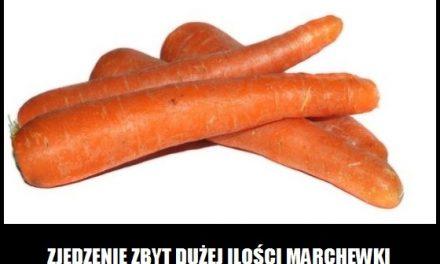 Co powoduje zjedzenie dużej ilości marchewki?