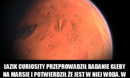 Łazik Curiosity potwierdził obecność wody na Marsie