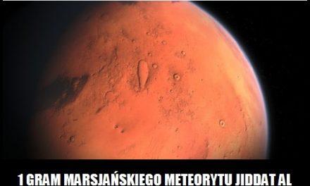 Ile kosztuje gram marsjańskiego meteorytu?