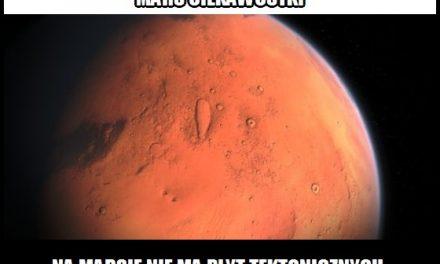 Na Marsie są płyty tektoniczne?