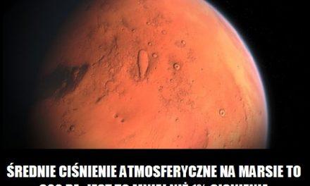 Jakie ciśnienie atmosferyczne jest na Marsie?