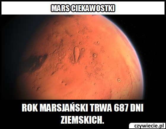 Mars ciekawostka 9