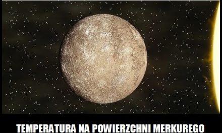 Jaka jest temperatura na powierzchni Merkurego?