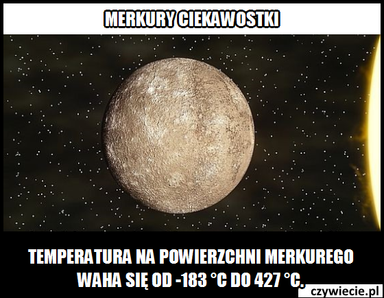 Merkury ciekawostka 3