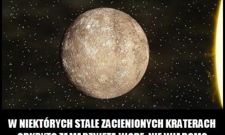 Co odkryto w kraterach na Merkurym?