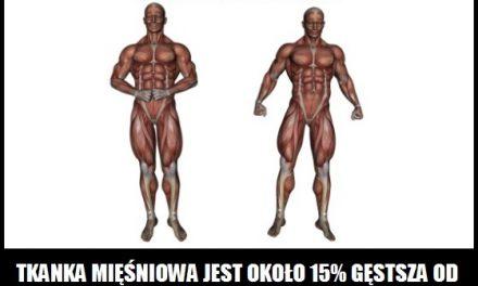 Gęstsza jest tkanka mięśniowa, czy tłuszczowa?