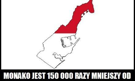 Ile razy Monako jest mniejsze od Polski?