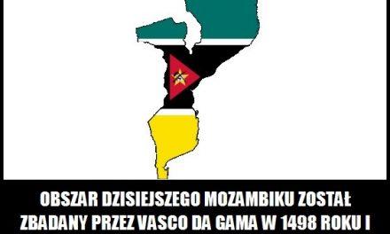 Mozambik został zbadany przez Vasco da Gama w 1498 roku
