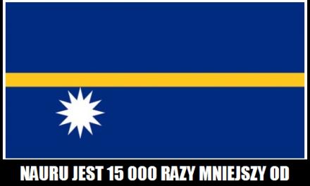 Ile razy Nauru jest mniejsze od Polski?
