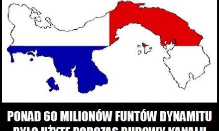 Ile dynamitu użyto podczas budowy kanału panamskiego?