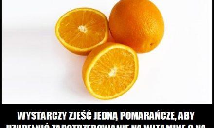 Ile trzeba zjeść pomarańczy, aby uzupełnić zapotrzebowanie na witaminę C?