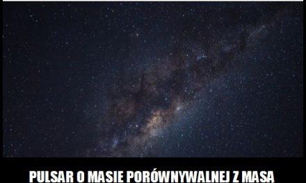 Jaką średnicę miałby pulsar o masie podobnej do Słońca?