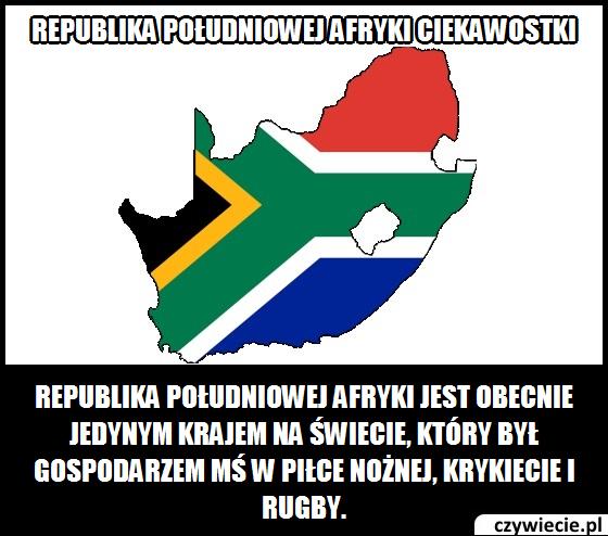 Republika Południowej Afryki ciekawostka 1