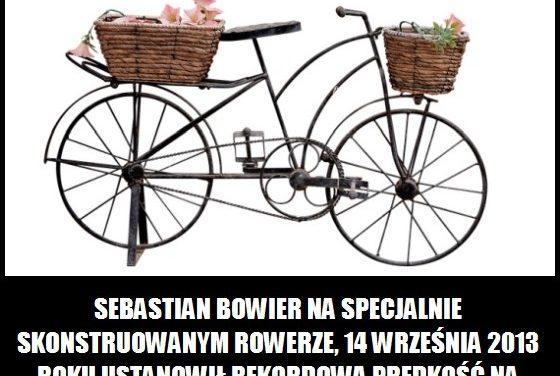 Ile wynosiła rekordową prędkość na rowerze na równym terenie?