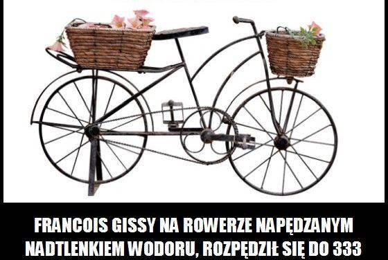 Jaką największą prędkość uzyskano jadąc na rowerze?