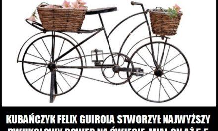 Kubańczyk Felix Guirola stworzył najwyższy dwukołowy rower na świecie