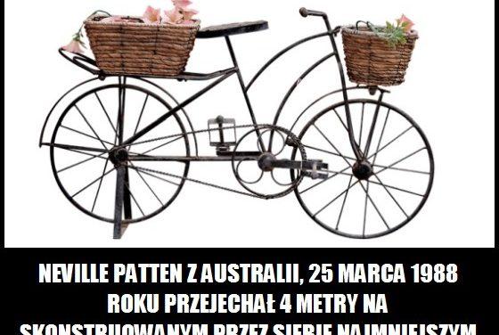 Jaką średnicę miały koła najmniejszego roweru, na którym udało się przejechać 4 metry?