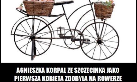 zdobyła na rowerze wszystkie najwyższe szczyty pasm górskich Polski