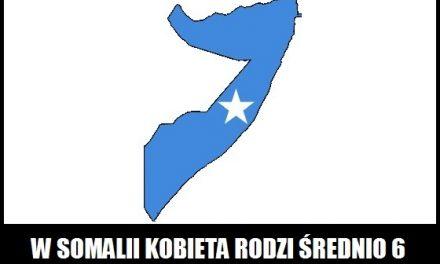 Ile dzieci rodzi średnio somalijska kobieta?