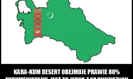Jaka pustynia pokrywa 80% powierzchni Turkmenistanu?